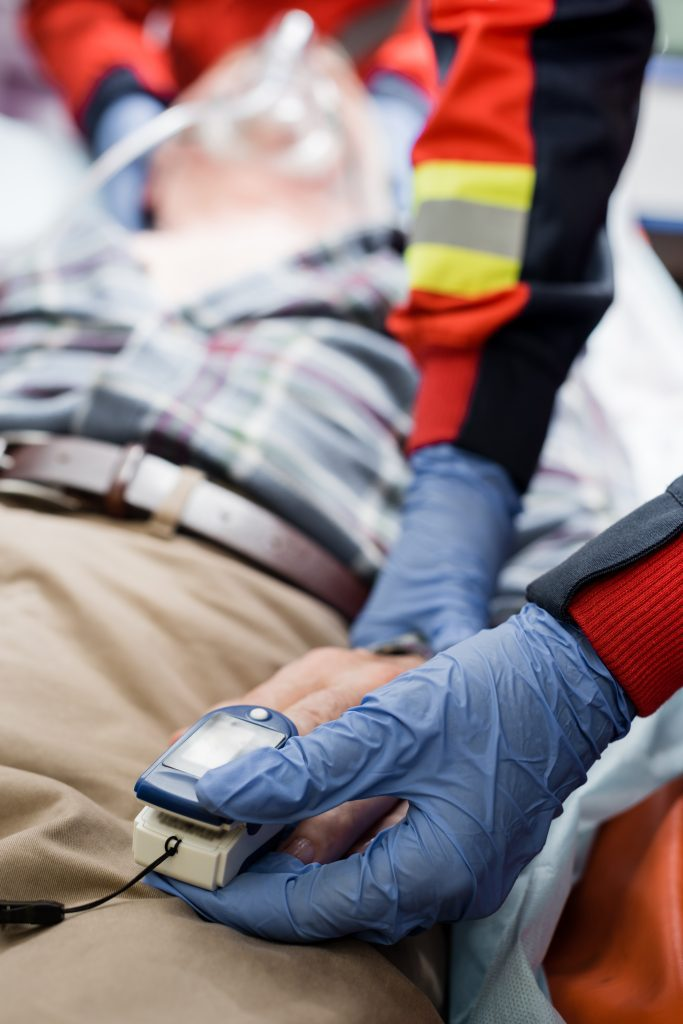 Injured shopper in ambulance after Austin Slip and Fall