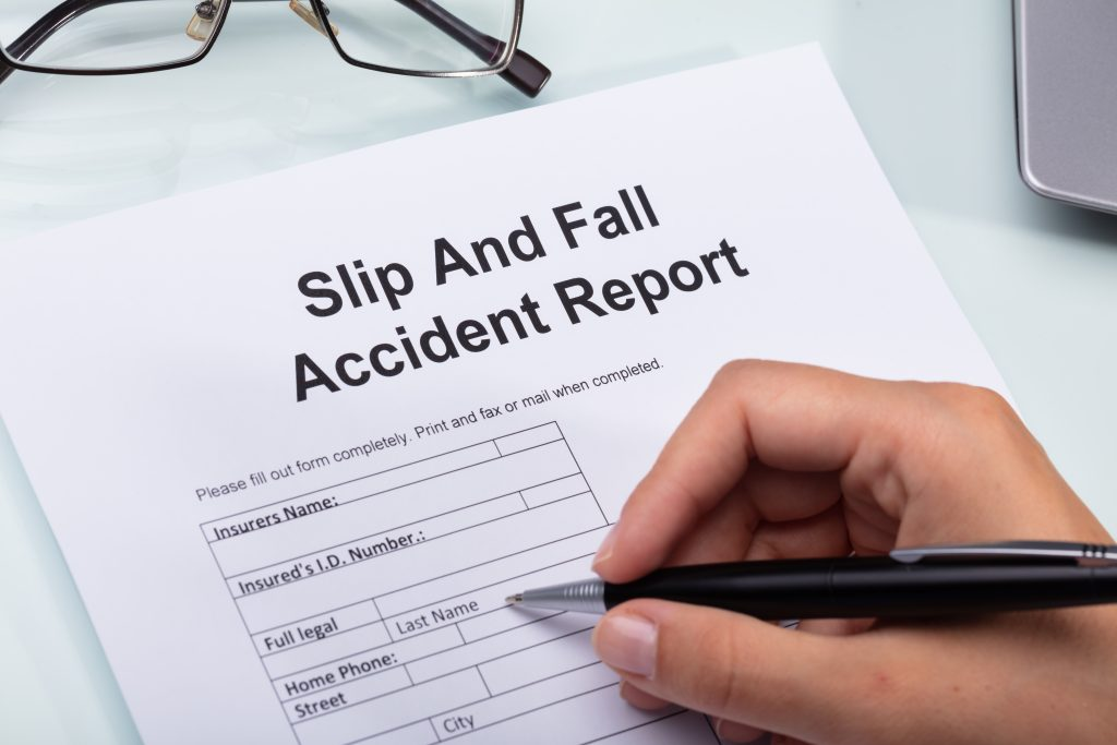 Companies require incident reports for slip and fall cases