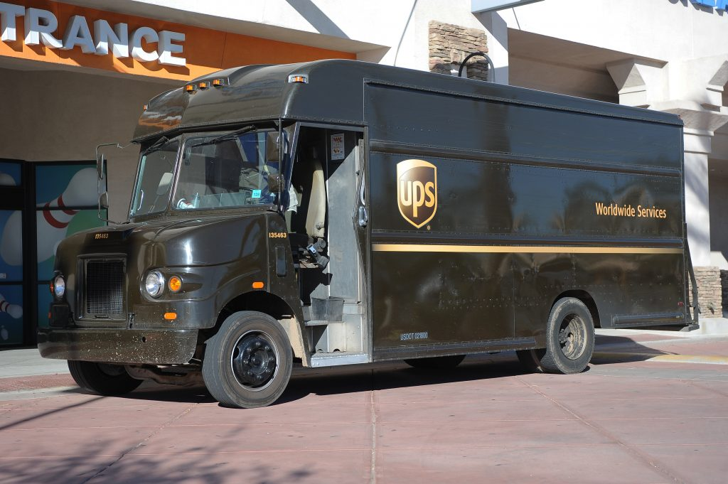 UPS DELIVERY TRUCK ACCIDENT