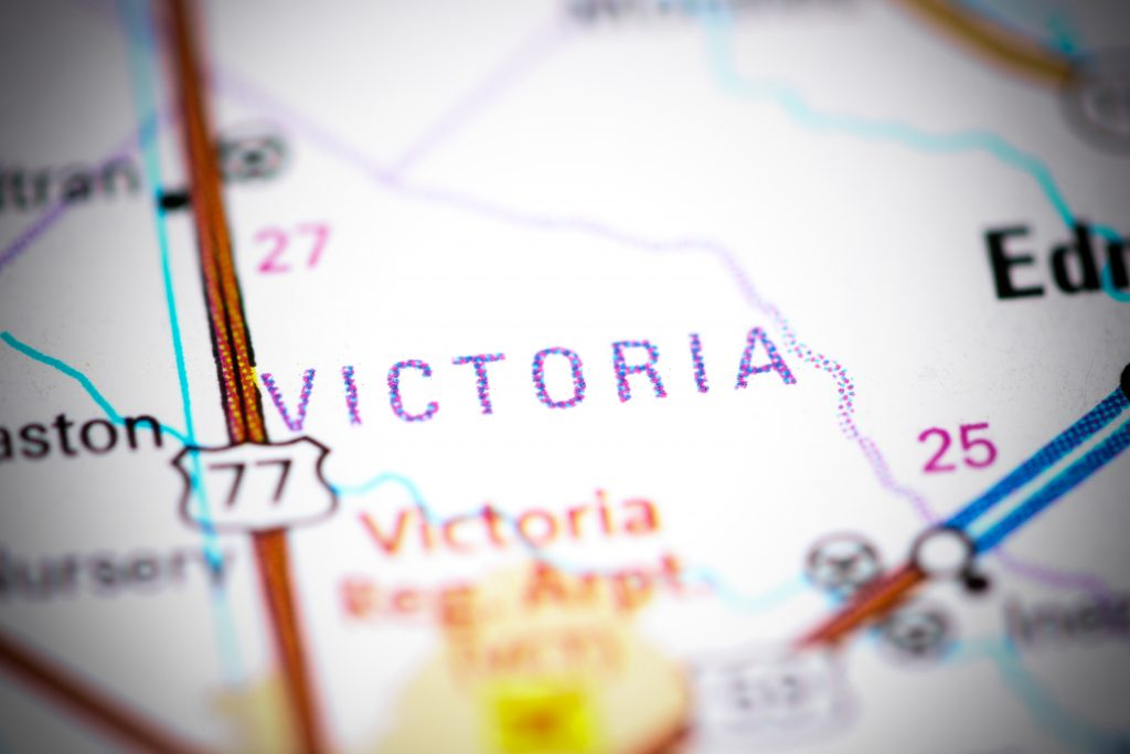 Map of Victoria Texas