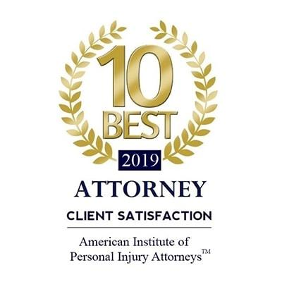 Attorney Client Satisfaction 10 Best 2019/ Jerome O. Fjeld, PLLC. Personal Injury Attorney in Houston, TX
