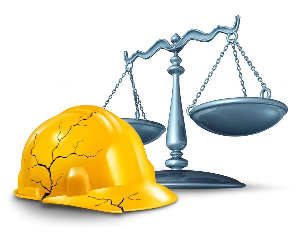 Austin work place accident lawyer with helmet