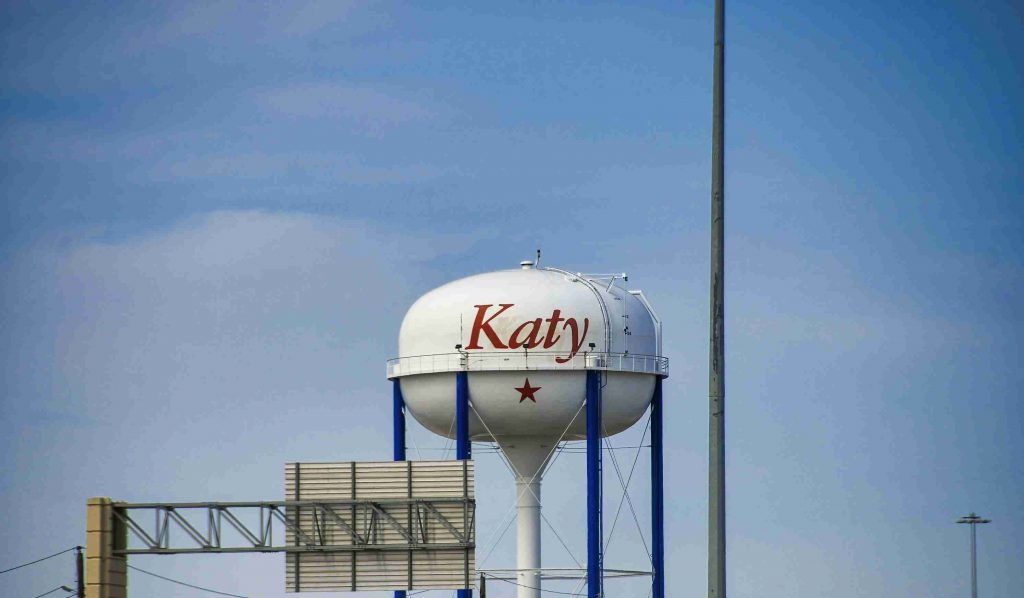 picture of water tower in Katy Texas